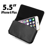 "Flip Leather Pouch Holster Case for Apple iPhone 6 Plus 5.5"" with Belt Clip"