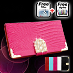 Diamond Bling Wallet Leather Case Cover for Samsung Galaxy S4 i9500