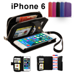 All in One Magnet Zip Wallet Leather Case & Flim Guard & Stylus For Apple iPhone 6 4.7""