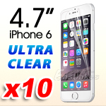 10x Premium Ultra Clear LCD Screen Protector Film Guard For Apple iPhone 6 4.7""