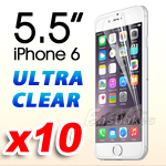 10x Premium Ultra Clear LCD Screen Protector Guard For Apple iPhone 6 Plus 5.5""