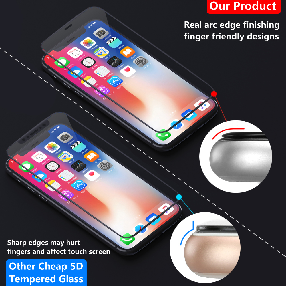 5d Apple Iphone Xs Max Xr 8 7 6s Plus Full Cover Tempered Glass Premium Samsung Note Case Friendly Good Touchscreen Clear Bening Screen Protector For