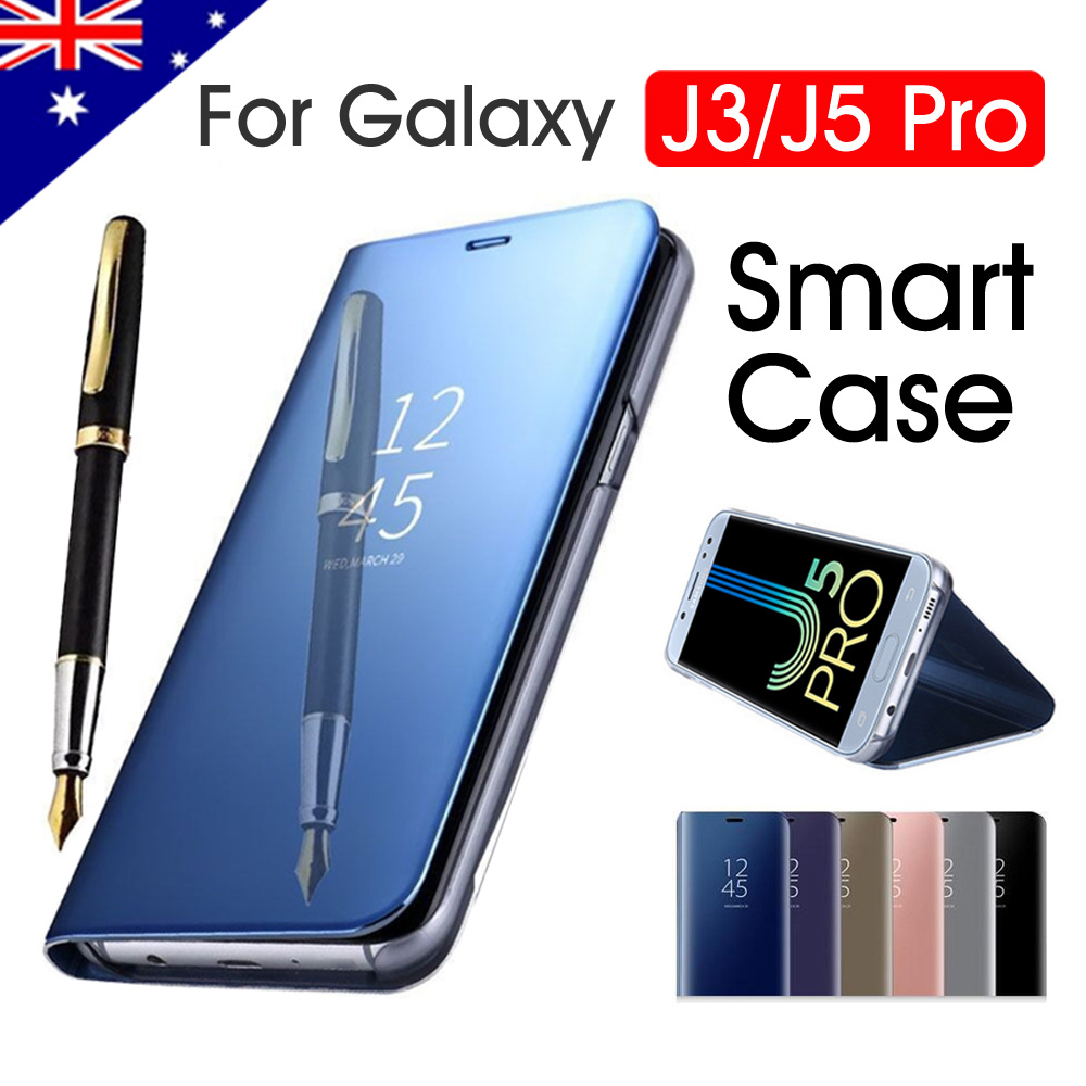 new arrival 28523 6ed94 Details about Galaxy J3 J5 J2 Pro J8 Case Luxury Slim Mirror Flip Cover For  Samsung S9 S9 Plus