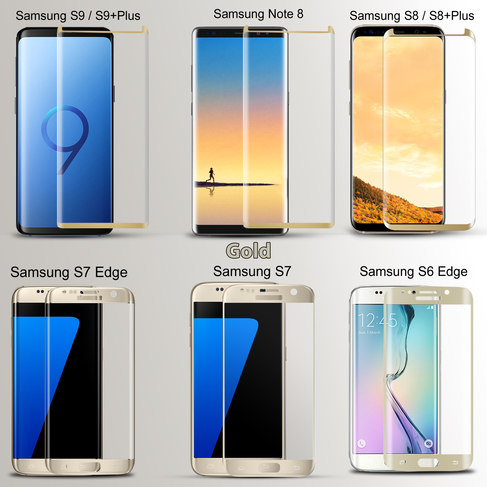 Screen 8 9 Fullcover Tempered Details Protector S8 S9 Plus Samsung Galaxy Glass Note About 6d